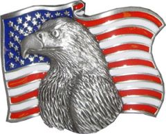 USA Flag Eagle Belt Buckle (EA 002)