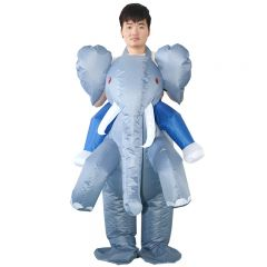 Elephant Inflatable Costume Blow Up Costume for Halloween Cosplay Party (105)