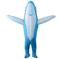 Blue Shark Inflatable Costume Blow Up Costume for Halloween Cosplay Party (104)