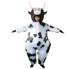 Cow Inflatable Costume Blow Up Costume for Halloween Cosplay Party (108)