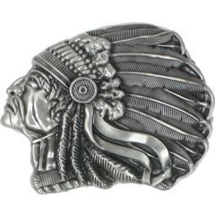 Indian Chief Belt Buckle (Mis Western 020)