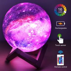 Moon Light 3D Printing Rechargeable Lamp (111) 0