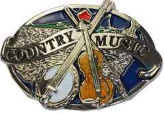 Mus 022 Country Music Belt Buckle