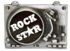 MUS 033 Rock Star Belt Buckle