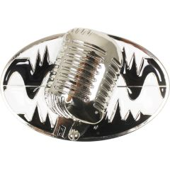 MUS 061 Old School Microphone Belt Buckle