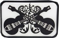 Mus 068 Twin Guitars Belt Buckle