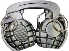 Mus 073 Grenade Head Phones Belt Buckle