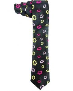 TIE 123 Slim Multicolor Lips Necktie
