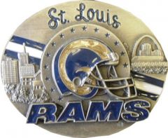 SPOR 327 St Louis Rams Belt Buckle