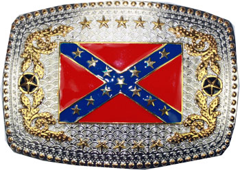 Rebel Flag Belt Buckle (OV 055)