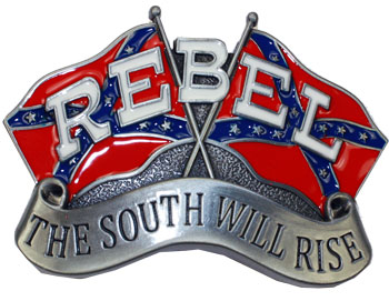The South Will Rise Rebel Flag Belt Buckle (FL 022)