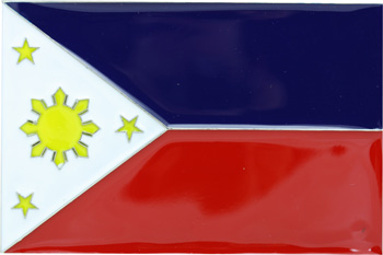 The Philippines Flag Belt Buckle (FL 096)