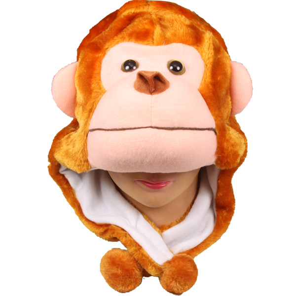 Plush Soft Monkey Animal Character Earmuff Hat (009)