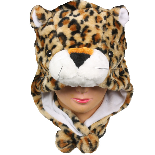 Soft Plush Panther Animal Character Earmuff Hat (015)