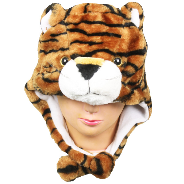 Soft Plush Tiger Animal Character Earmuff Hats (053)