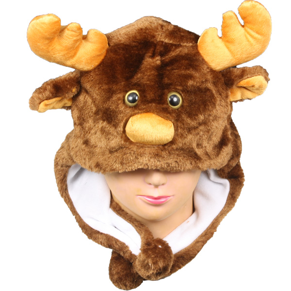 Plush Reindeer Animal Hats with Earp Flaps (011)