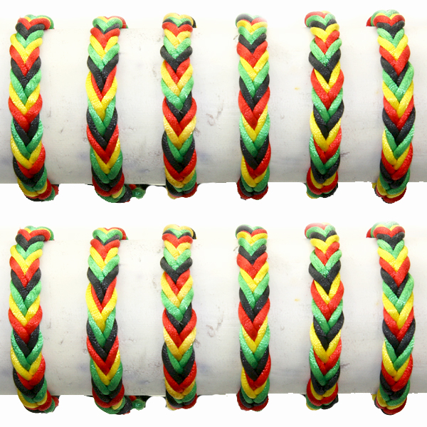 LTH AB 048 FRIENDSHIP RASTA BRACELET 60 PCS