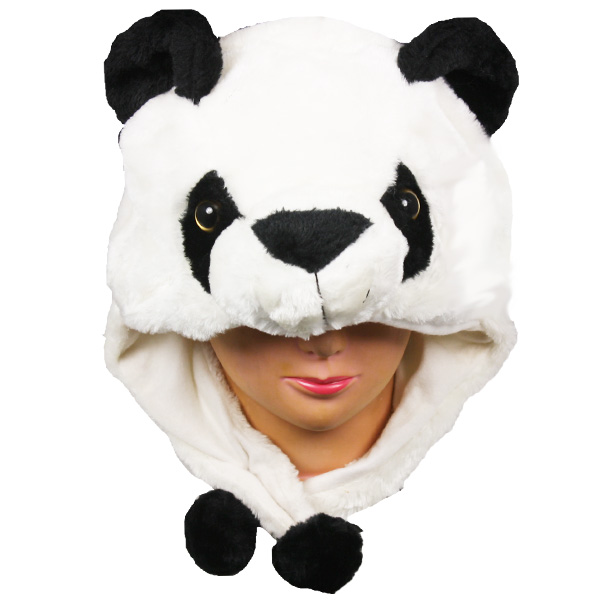 Soft Plush Panda Animal Character Earmuff Hats (0055)