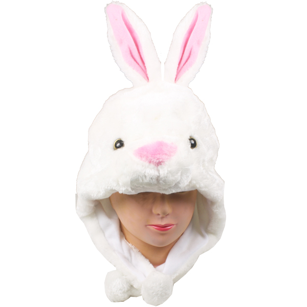 Cute Plush Bunny Animal Character Earmuff Hat (073)