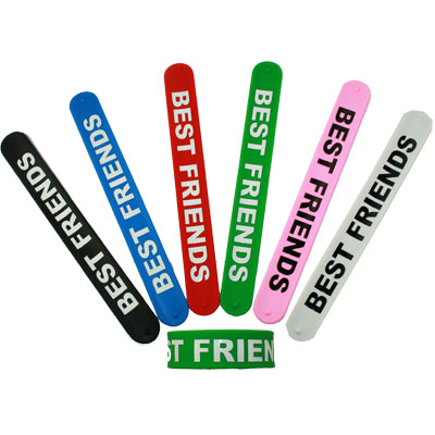 PVC AB 16 BEST FRIENDS SNAP ON BRACELET