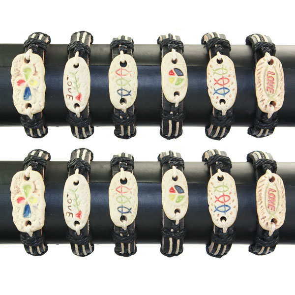 LTH AB 023 LEATHER BRACELET 12 PCS