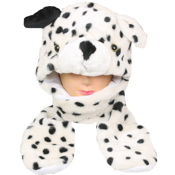 Dalmatian Animal Hats with Paws Mitten (014)