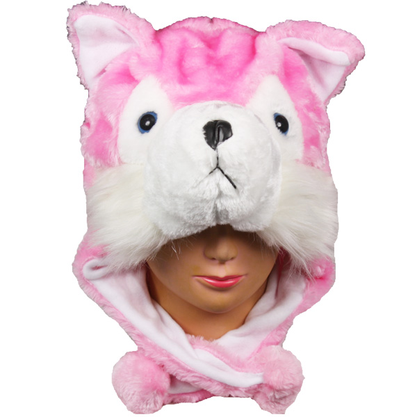 Cute Pink Cat Animal Character Earmuff Hat (065)