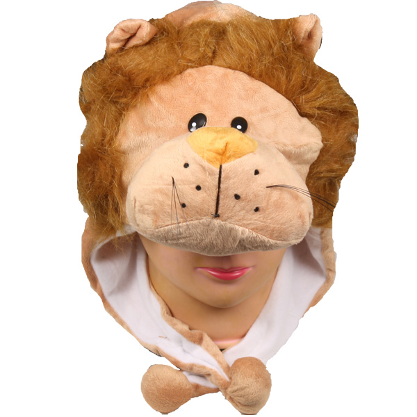 Soft Plush Lion Animal Character Earmuff Hat (071)