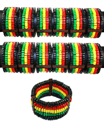 LTH AB 151 RASTA LEATHER BRACELET 60 PCS