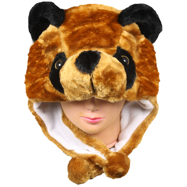 Soft Plush Bear Animal Character Earmuff Hat (115)