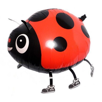 Walking Red Ladybug Balloon (030)