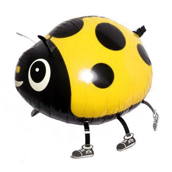 Walking Yellow Ladybug Balloon (032)