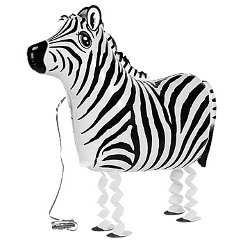 BLN 033 WALKING ZEBRA BALLOON