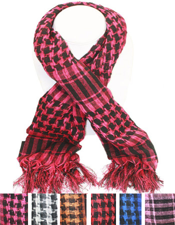 SCARF AB 250  PALESTINE SCARVES MIX COLOR