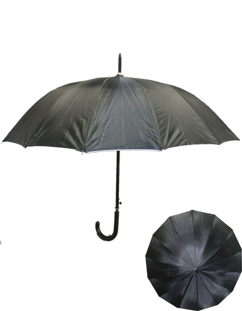 UMB 030 PLAIN BLACK UMBRELLA