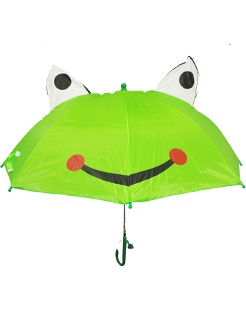 Frog Design Automatic Kid Umbrella with Safety Whistle (umb 005)