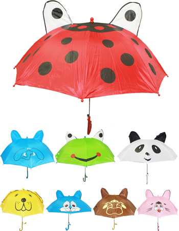 UMB 009 ANIMAL DESIGN KID MIX UMBRELLA