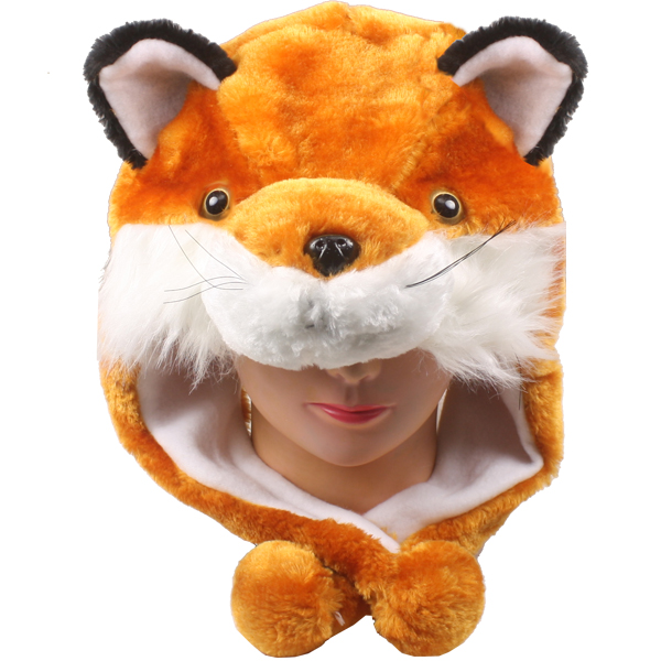 Cute Plush Fox Animal Character Earmuff Hat (113)
