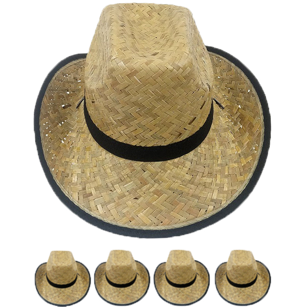 Woven Straw Lightweight Man Cowboy Hat (004)