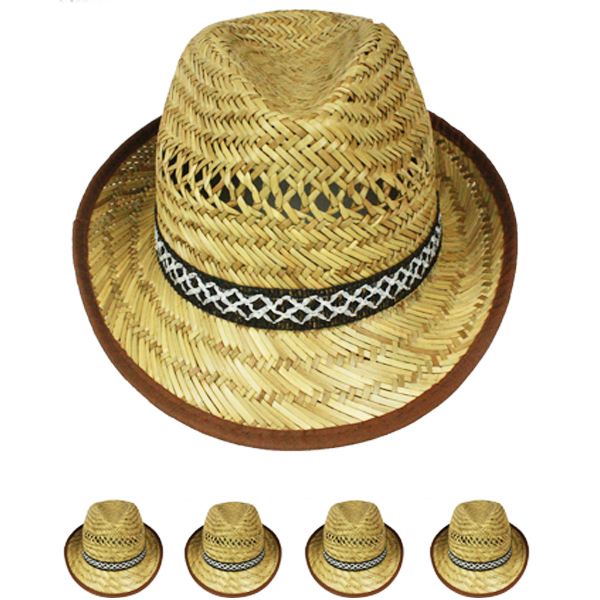 Raffia Straw Man Lightweight Panama Hat (005)