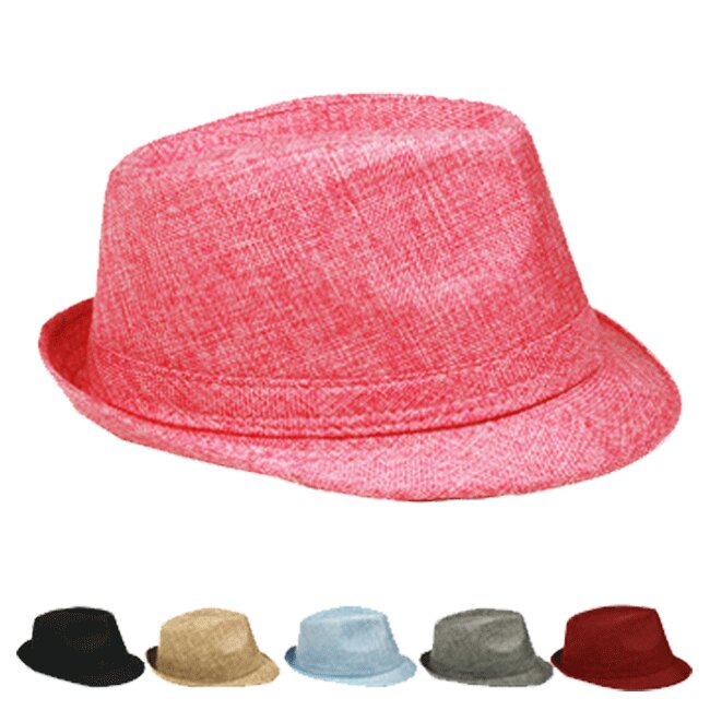 Adult Casual Trilby Fedora Hat Set Mix Color (020)