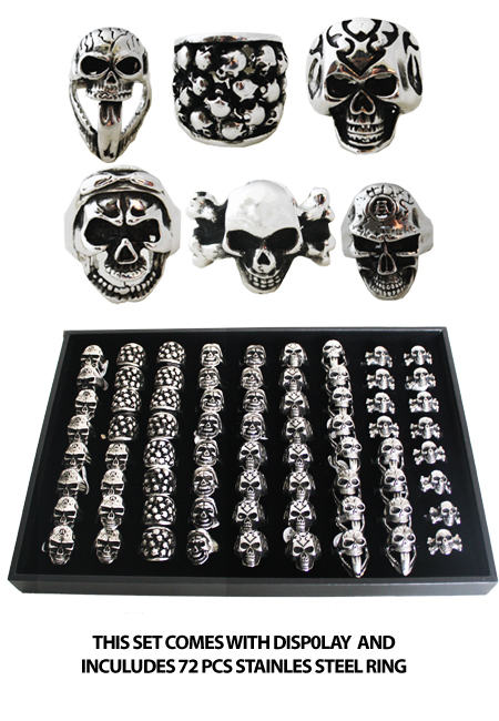RING 014 AB STAINLESS STEEL SKULL RINGS