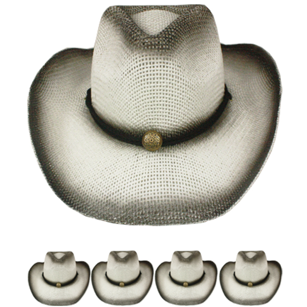 Paper Straw Olive Green Shade Western Cowboy Hat (014)