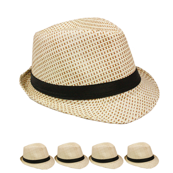Classic Cuban Style Brown Trilby Fedora Hat (122)