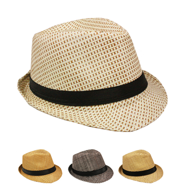 Classic Cuban Style Trilby Fedora Hat Set Mix Color (126)