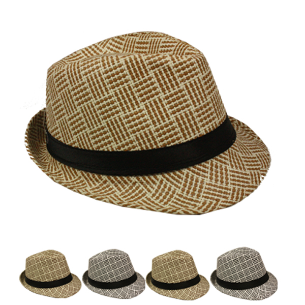 Vintage Jazz Style Trilby Fedora Hat Set Mix Color (140)