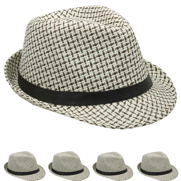 Classic Cuban Style Crushable Trilby Fedora Hat (126)