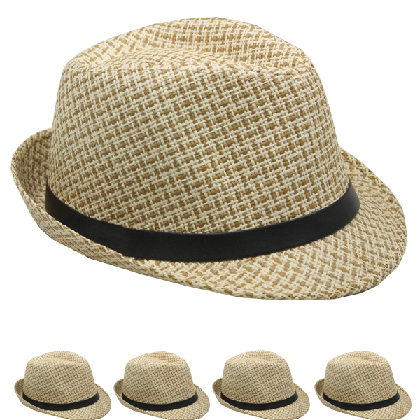 Classic Cuban Crushable Brown Trilby Fedora Hat (0148)