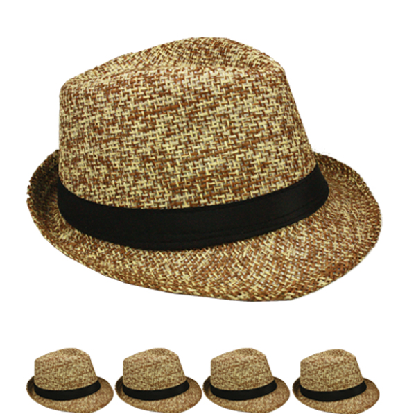 Lightweight Crushable Brown Trilby Fedora Hat (153)
