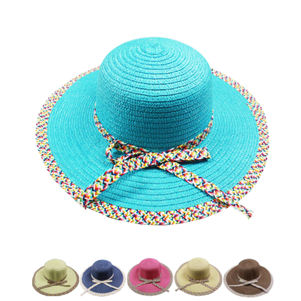 Woman Summer Beach Floppy Hat (036)